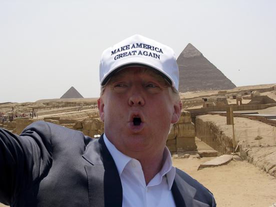 "Trump in Egypt: ""You Guys Still Build ThosePyramids?"""