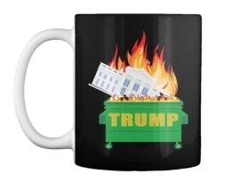 trumpster fire mug